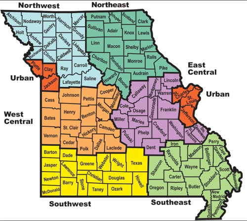Kansas Homeschool Support Group Regions