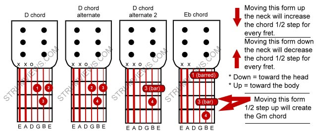 Guitar guitar chords basic : Basic Acoustic Guitar Lesson #5 - using the D chord to learn more ...