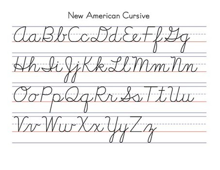 Worksheets Cursive Handwriting handwriting teaching cursive and manuscript writing a2z about new american cursive