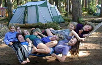 California homeschoolers on campout.