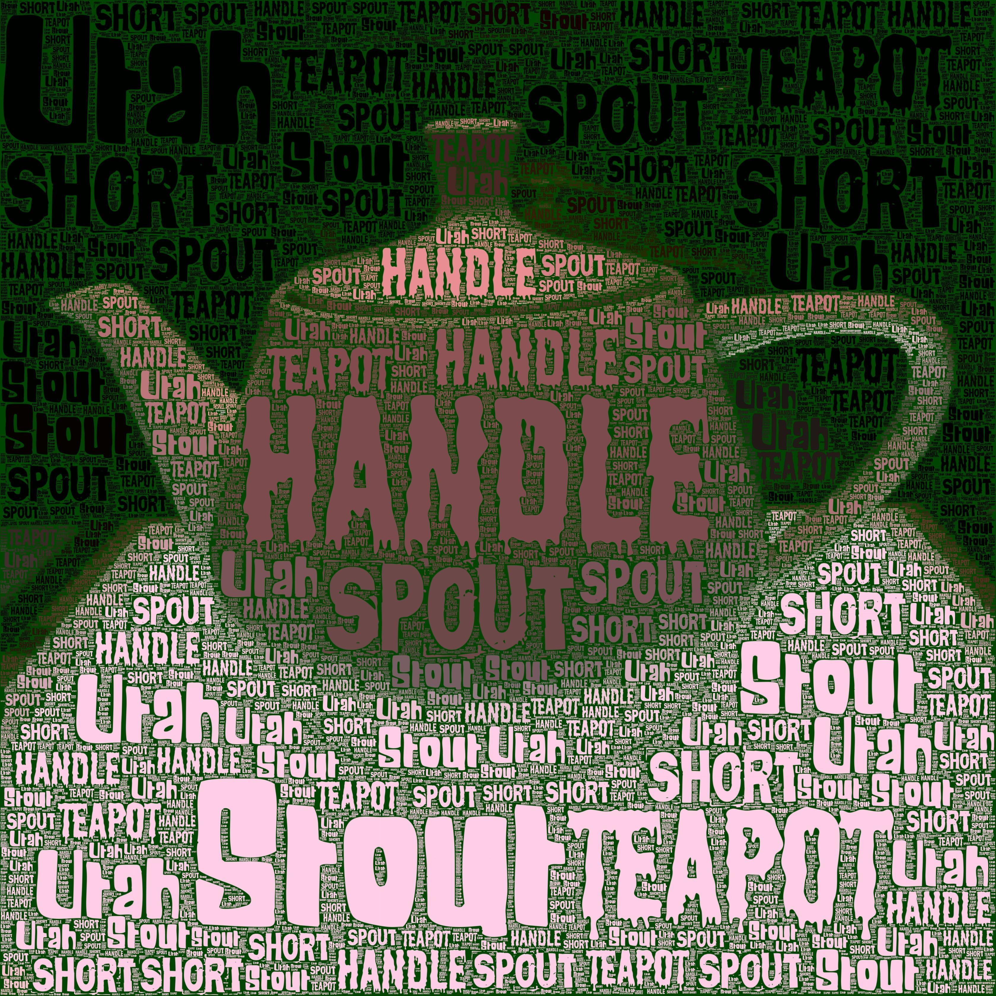 The Utah Teapot rendered in Wordfoto