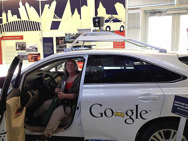 Ann Zeise in Google's Driverless Car