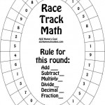 Race Track Math Worksheet Game